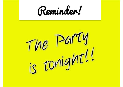 The party is tonight paparazzi online party graphic