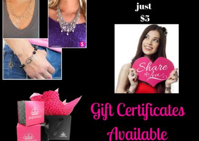 Paparazzi Gift Certificate