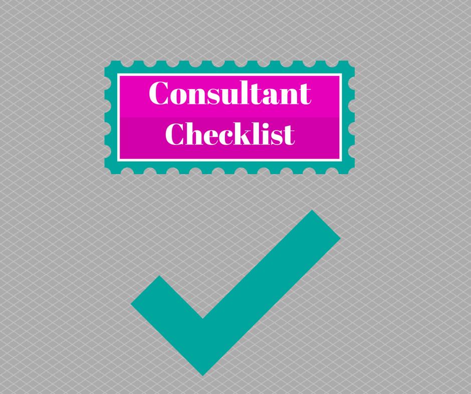 Paparazzi Consultant Checklist