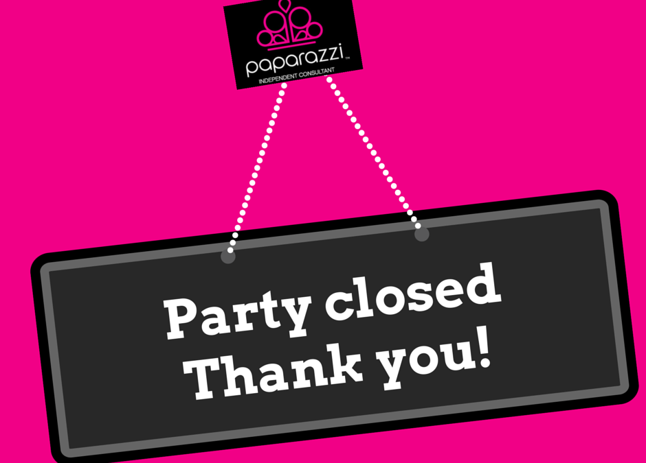 Paparazzi Party Closed