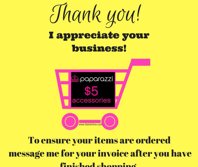 Thank you for shopping Paparazzi
