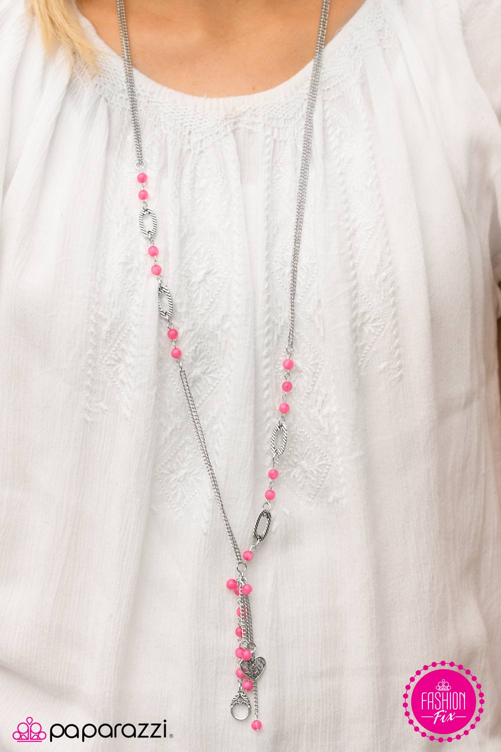Isnt She Charming – Pink Paparazzi Necklace