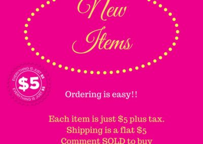 New Items Facebook Party