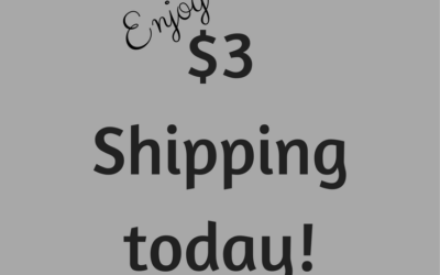 $3 Shipping today!