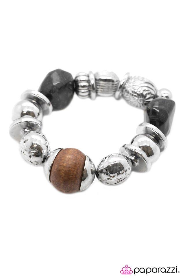 Paparazzi Silver Stretchy Bracelet