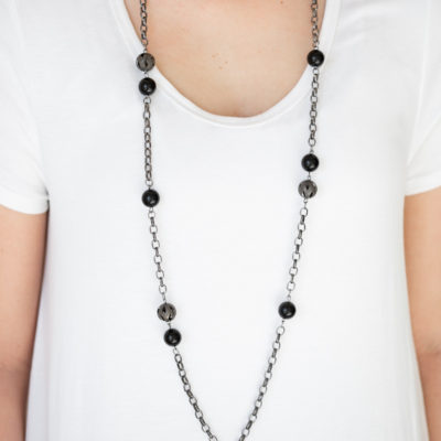 Fashion Fad- Black Lanyard