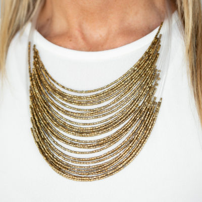 Catwalk Queen - Brass - Paparazzi Accessories