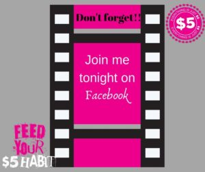 Join me tonight Facebook live $5 jewelry