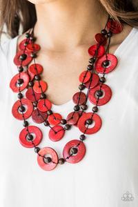 Catalina Coastin - Red - Paparazzi Accessories