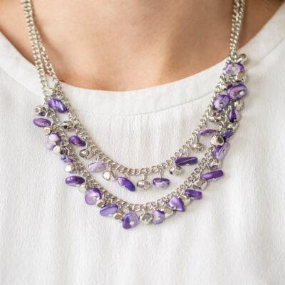 Pebble Pioneer - Purple - Paparazzi Accessories