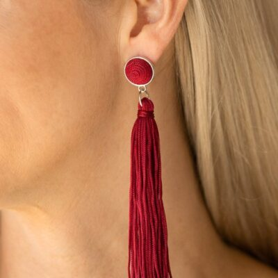 Tightrope Tassel - Red - Paparazzi Accessories