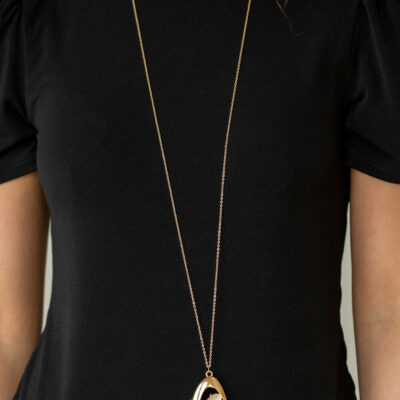 Asymmetrical Bliss - Gold Necklace - Paparazzi Accessories
